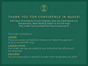 NoAGE pre-order